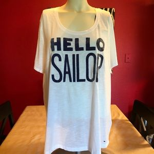NWT Tommy Hilfiger white tee